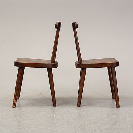 A set of four pine chairs, 1930's-40's.