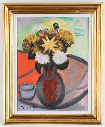 Tor bjurström, oil on canvas, signed.