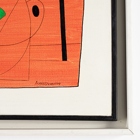 Albert johansson, oil ob canvas, signed.