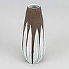 An earthenware vase, 'paprika' by anna-lisa thomson for uppsala ekeby.