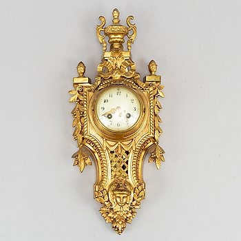 A Japy Frères bronze wallclock, around the year 1900.