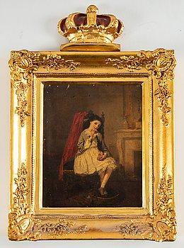 Isidore Patrois, olja på pannå, Frankrike, signerad och daterad -56.