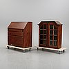 A writing cabinet 18th and 20th  century.