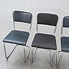 """Chairs, """"steel tube chair"""", 1940s-50s, 4 pcs."""
