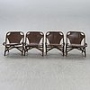 Chairs, bamboo, 4 pcs,  spain 1970s.