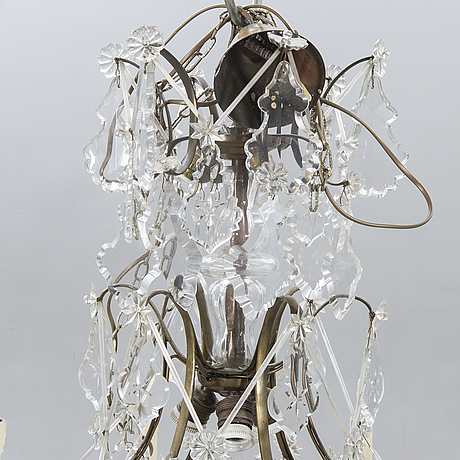 A baroque style chandelier first half of the 20th century.