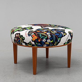 A model 647 stool by Josef Frnak for Firma Svenskt Tenn, designed  1936.