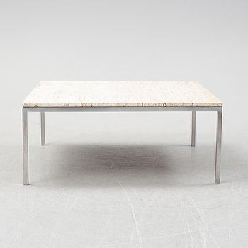 A 196/70's coffee table with travertine top.