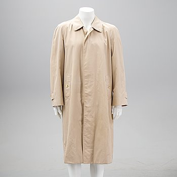 Burberry, a cotton mix trench coat, circa size L.