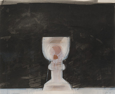 Ulla rantanen, gouache, signed and dated -84.