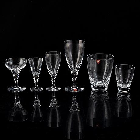 Ingeborg lundin, 65 pieces glass, 'carina', orrefors.
