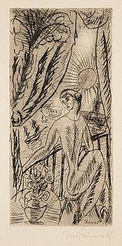 748. Isaac Grünewald, On the terrace.