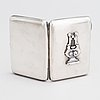 A russian cigarette case, decoration marked in kyov 1828-1887, case with maker's mark pyotr baskakov, moscow 1908.