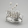 A swedish late gustavian silver cruet stand, mark of mikael nyberg, sweden 1796.