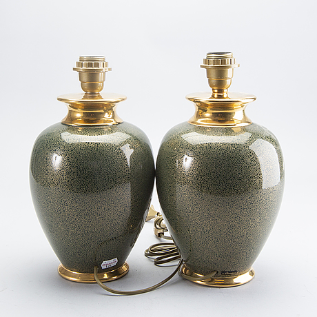 Table lamps, a pair, le dauphin, france, second half of the 20th century.