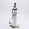 Table lamp, porcelain, brass, early 20th century.