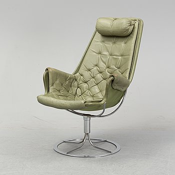 A 'Jetson' swivel lounge chair by Bruno Mathsson for Dux, designed 1969.
