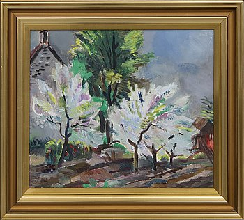 Jules Schyl, Jules Schyl, oil on panel, signed, dated -47.