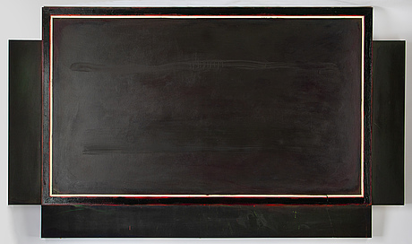 Jake berthot, oil on canvas, signed and dated 1970 verso.