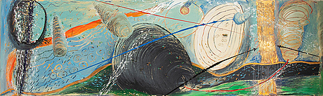 Elba damast, oil on canvas, signed and dated -89 verso.