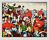 Carl johan de geer, lithograph in colours, signed 142/290.