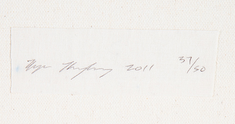 Ryan humphrey, archival inkjet print på duk, 2011, med serificat 37/50 a tergo.
