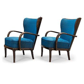 WERNER WEST, A pair of 1930s armchairs for Wilh. Schaumannin Vaneritehdas Oy, Jyväskylä.