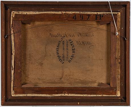 William edward webb, olja på duk signerad.