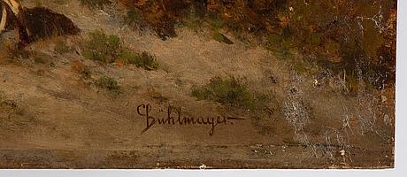 Conrad bühlmayer, oil on panel, signed.