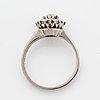 Brilliant-cut diamond cluster ring.