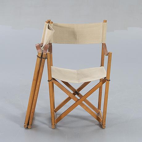 "Mogens koch, folding chairs, a pair, ""mk16"", internal denmark, second half of the 20th century."