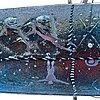 Bertil vallien, a sand cast glass sculpture of a boat, kosta boda, sweden.