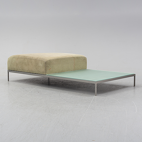 A contemporary ottoman/coffee table, purchased 2002.