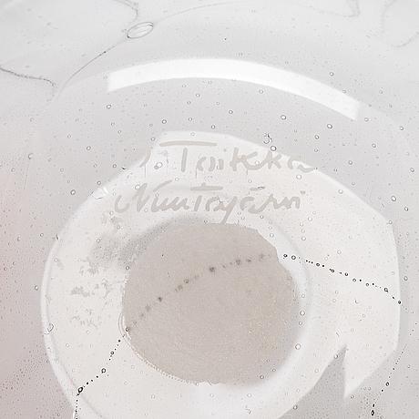 Oiva toikka, glasskulptur, signerad o. toikka nuutajärvi.