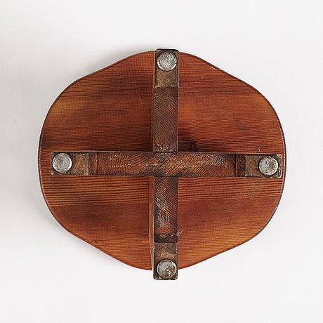 "David rosén, a pine ""berga"" stool, nordiska kompaniet, sweden 1930-40's."