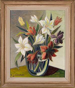 Birger Carlstedt, Still life with flowers.