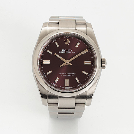Rolex, oyster perpetual, chronometer, armbandsur, 36 mm.