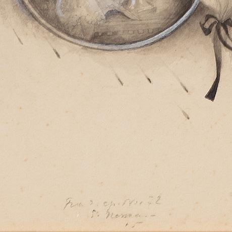 Einar nerman, ink wash, signed.