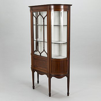 A 20th century English display cabinet.