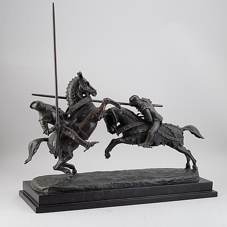 Alfred emilien de nieuwerkerke, skulptur. brons. signerad och daterad.