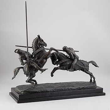 Alfred Emilien de Nieuwerkerke, sculpture. Bronze. Signed and dated.