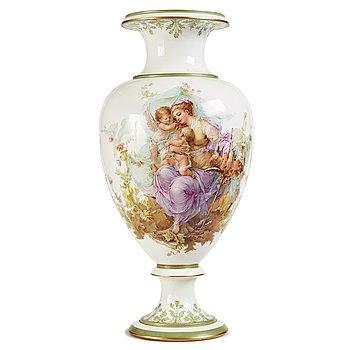 341. A large porcelain vase, Russia, late 19th Century, signed Klara Zeidler.