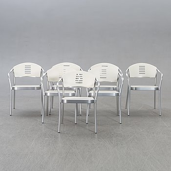Vico Magistretti, chairs 6 pcs Kartell, Mauna kea alter part of the 20th century.