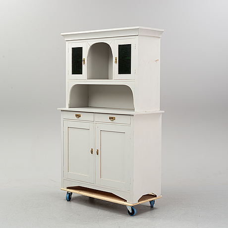 A painted cabinet, art nouveau, early 20th century.