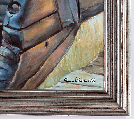Gunnar stålbrand, oil on panel, signed and dated -83.