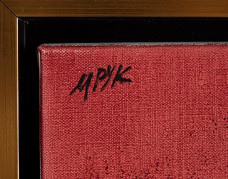 Madeleine pyk, oil on canvas, signed.