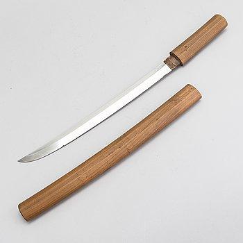 A Japanese wakizashi sword.