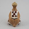 Lisa larson,a 'charlotta' stoneware figurine, gustavsberg.