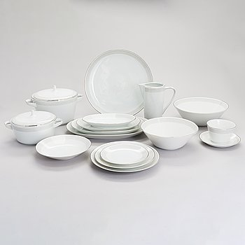 A 61-piece 'Noblesse' dinnerware set, Hutschenreuther Selb, Germany, 1950s-60s.