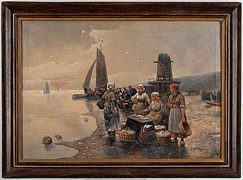 Adolf Baumgartner Junior, olja på duk, signerad.